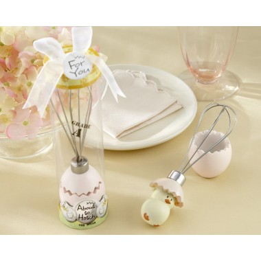 13012NA About to Hatch Stainless-Steel Egg Whisk in Showcase Gift Box