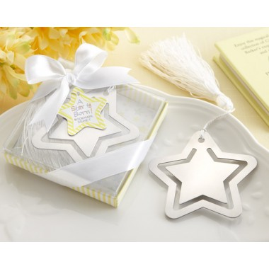 14059NA A Star is Born! Metal Bookmark with White-Silk Tassel