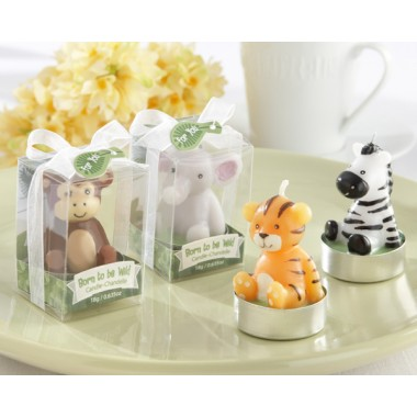 20124AS Born to be Wild Animal Candles (Set of 4, Assorted)
