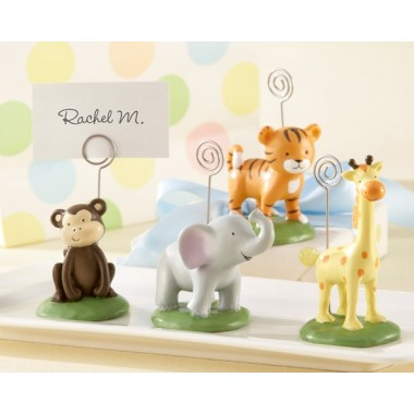 Born To Be Wild Animal Place Card/Photo Holders (Set of 4 Assorted)